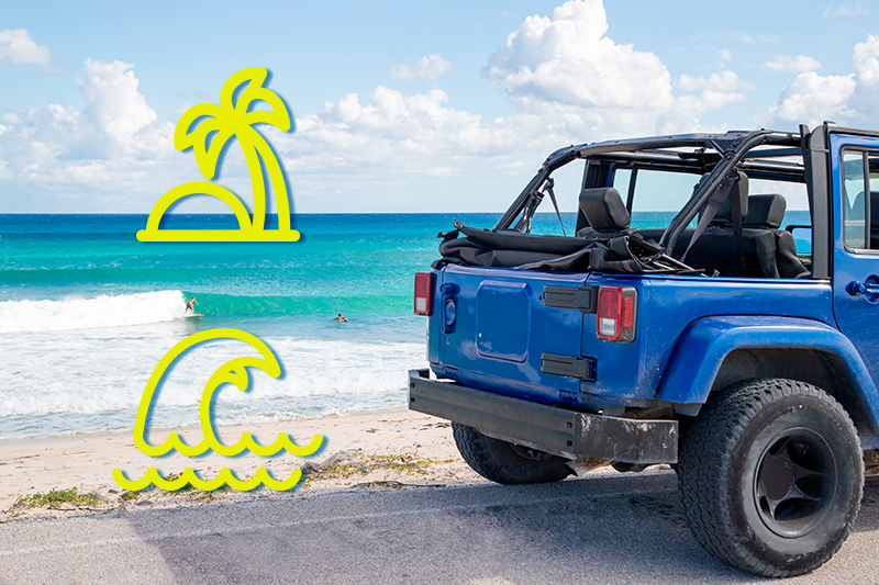Renta un auto para explorar los paraísos del Caribe
